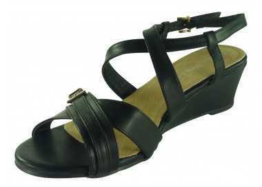 chaussures compensées Lola noir