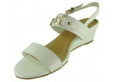 Sandales compensées Zoe blanc