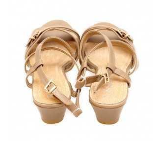 Chaussure compensée Salomé taupe