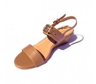 Sandale compensée Adèle taupe