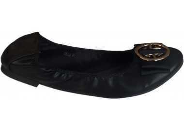 Ballerines élastiques boucle noir