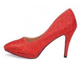 Stiletto rouge pailleté