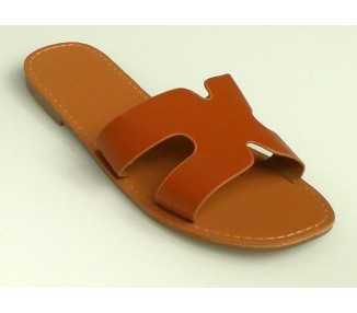 Sandales mules CAMEL