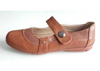 chaussure pieds sensibles marron
