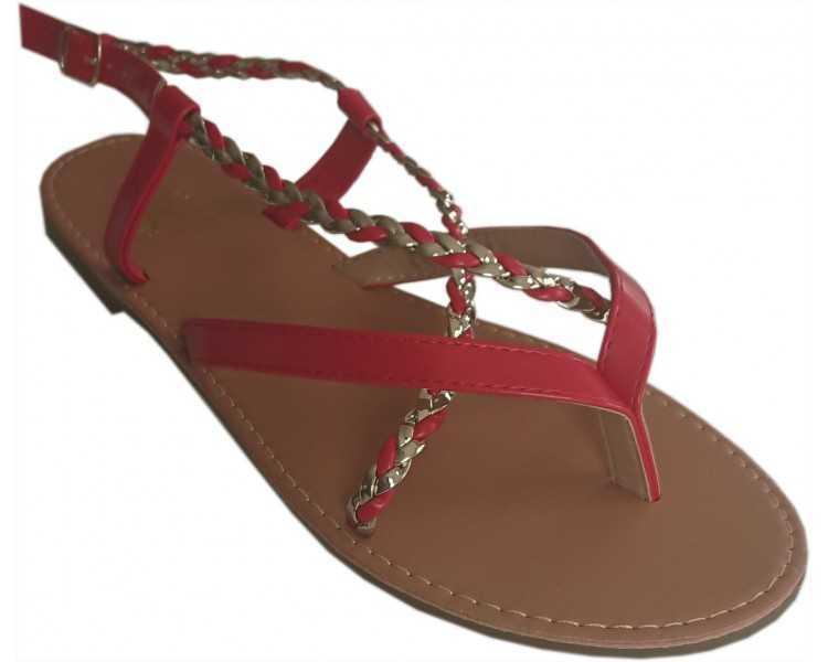 sandales-femme-rouge