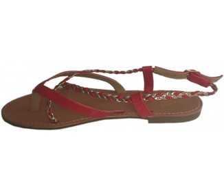 Sandales rouges Bora